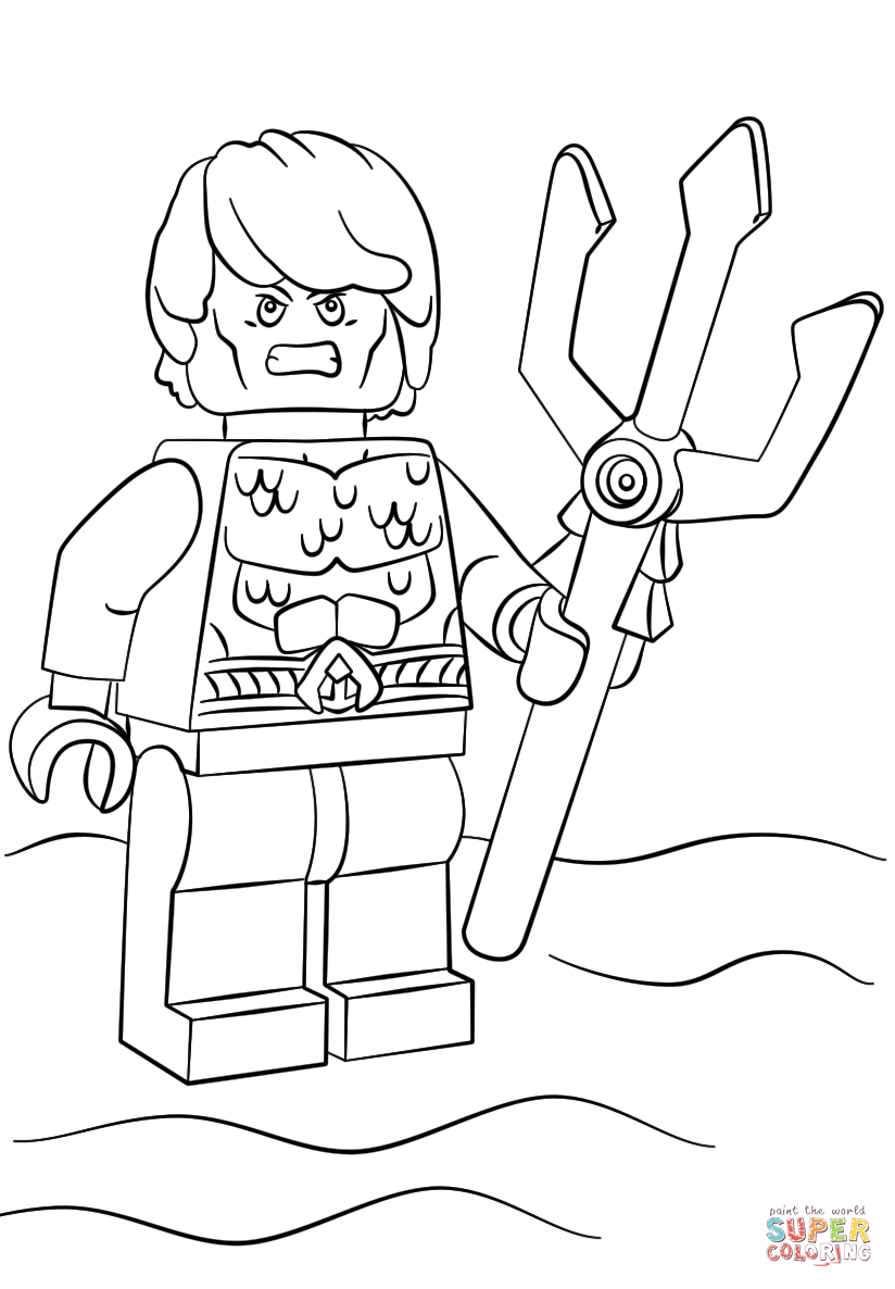 Aquaman Coloring Page - Coloring Home
