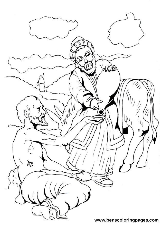 Click The Good Samaritan Parable Coloring Pages To View Printable