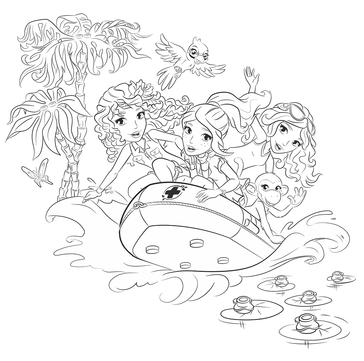 Lego Friend Coloring Pages #4