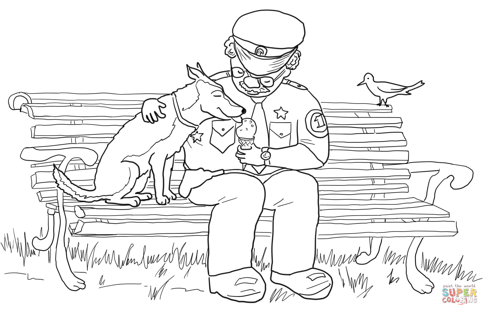 officer buckle and gloria coloring pages - photo #3