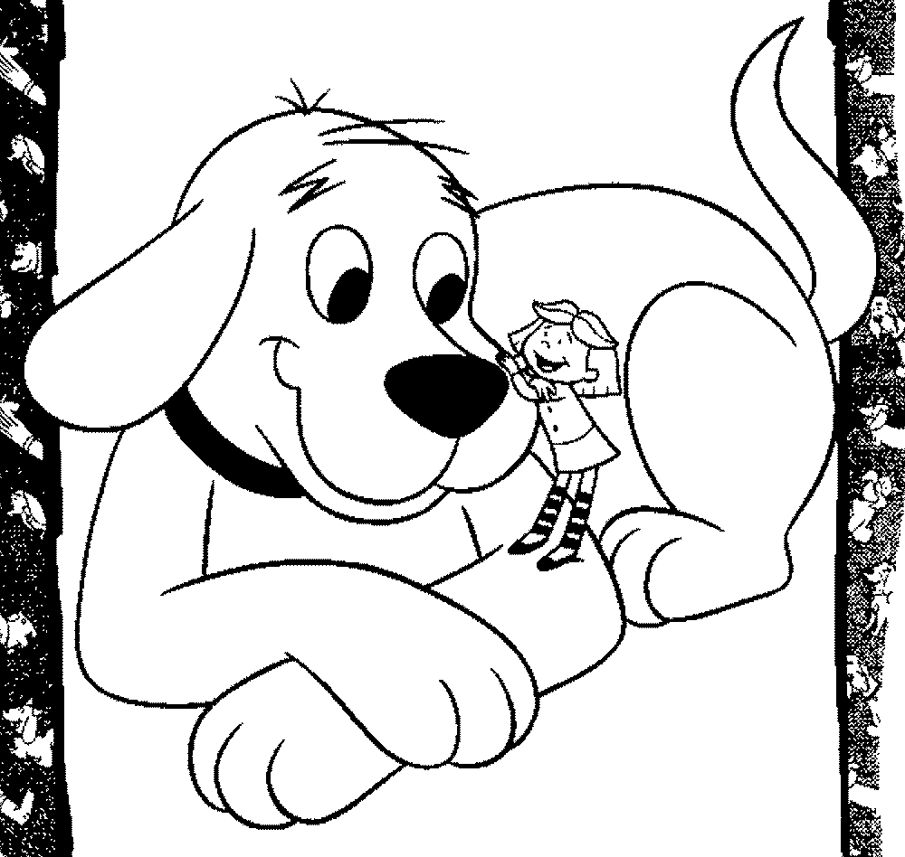 Coloring pages of clifford the big red dog coloring home for Clifford coloring pages