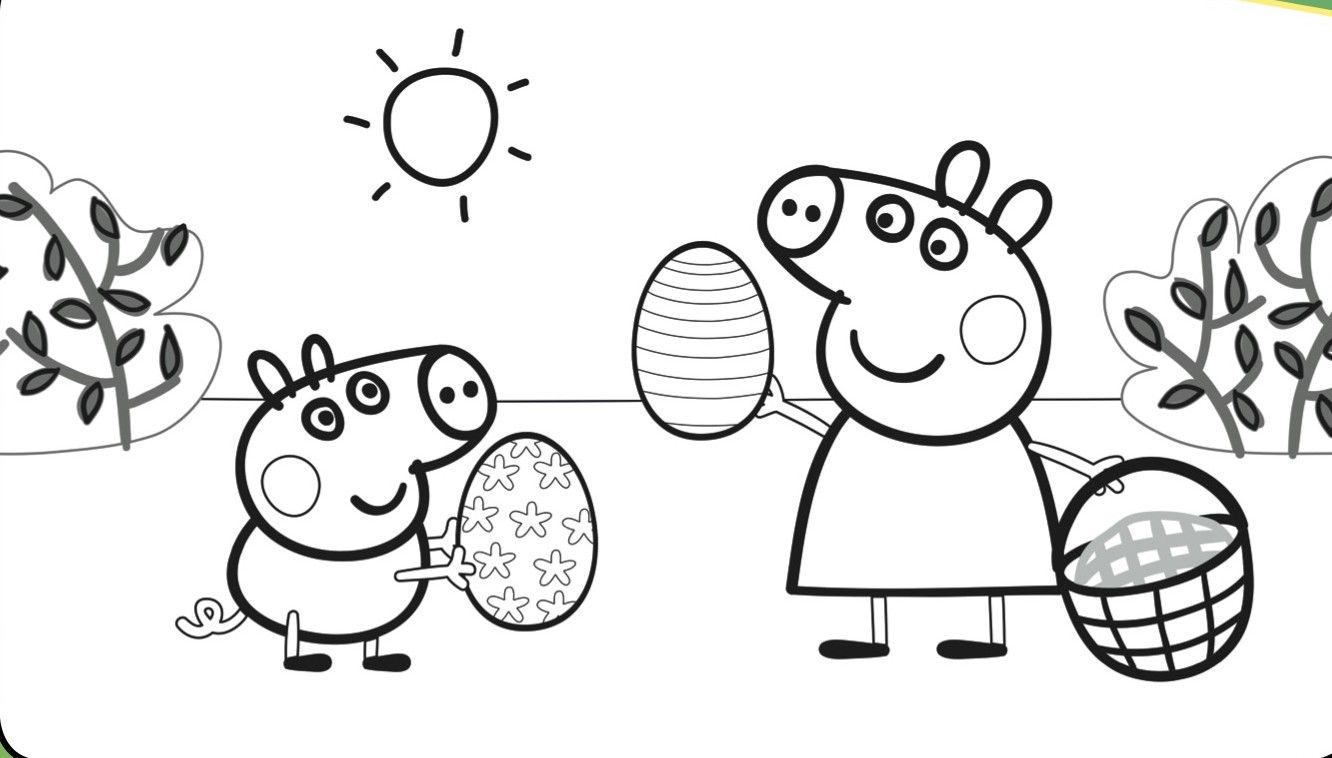 Peppa pig coloring pages online | ColoringGoKids