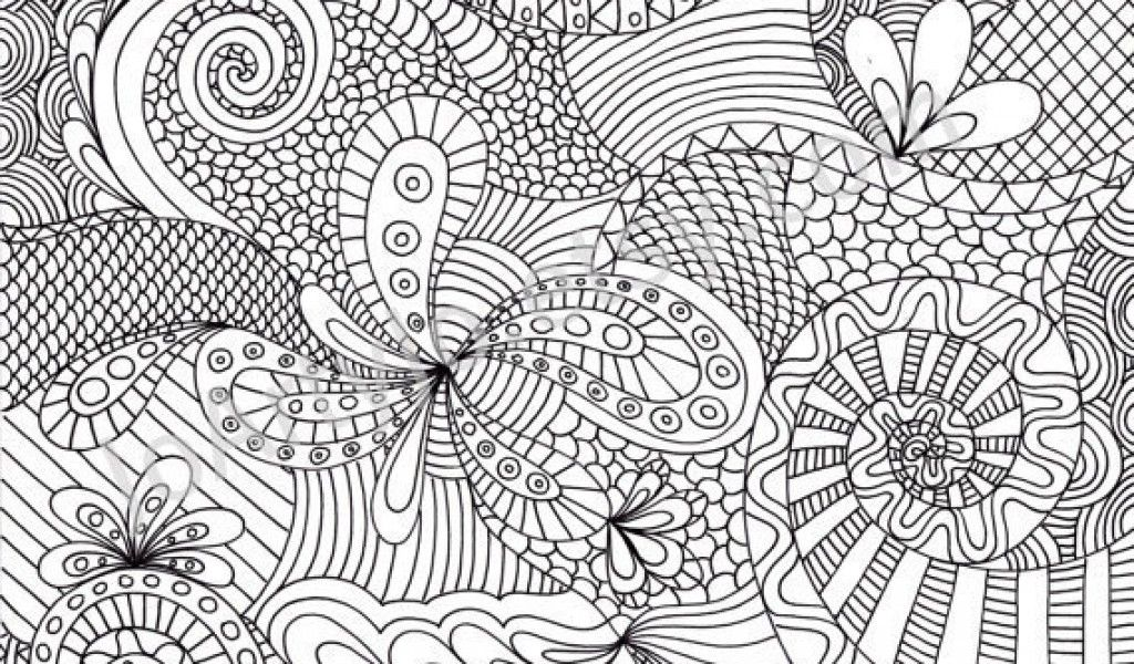 Punchy image with printable coloring pages for adults abstract