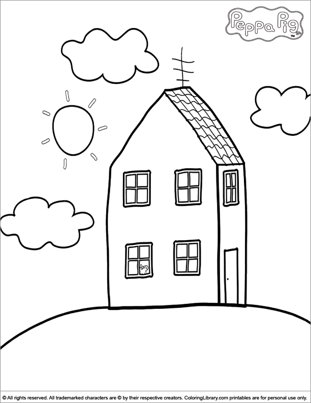 Children S Colouring Pages Peppa Pig - High Quality Coloring Pages