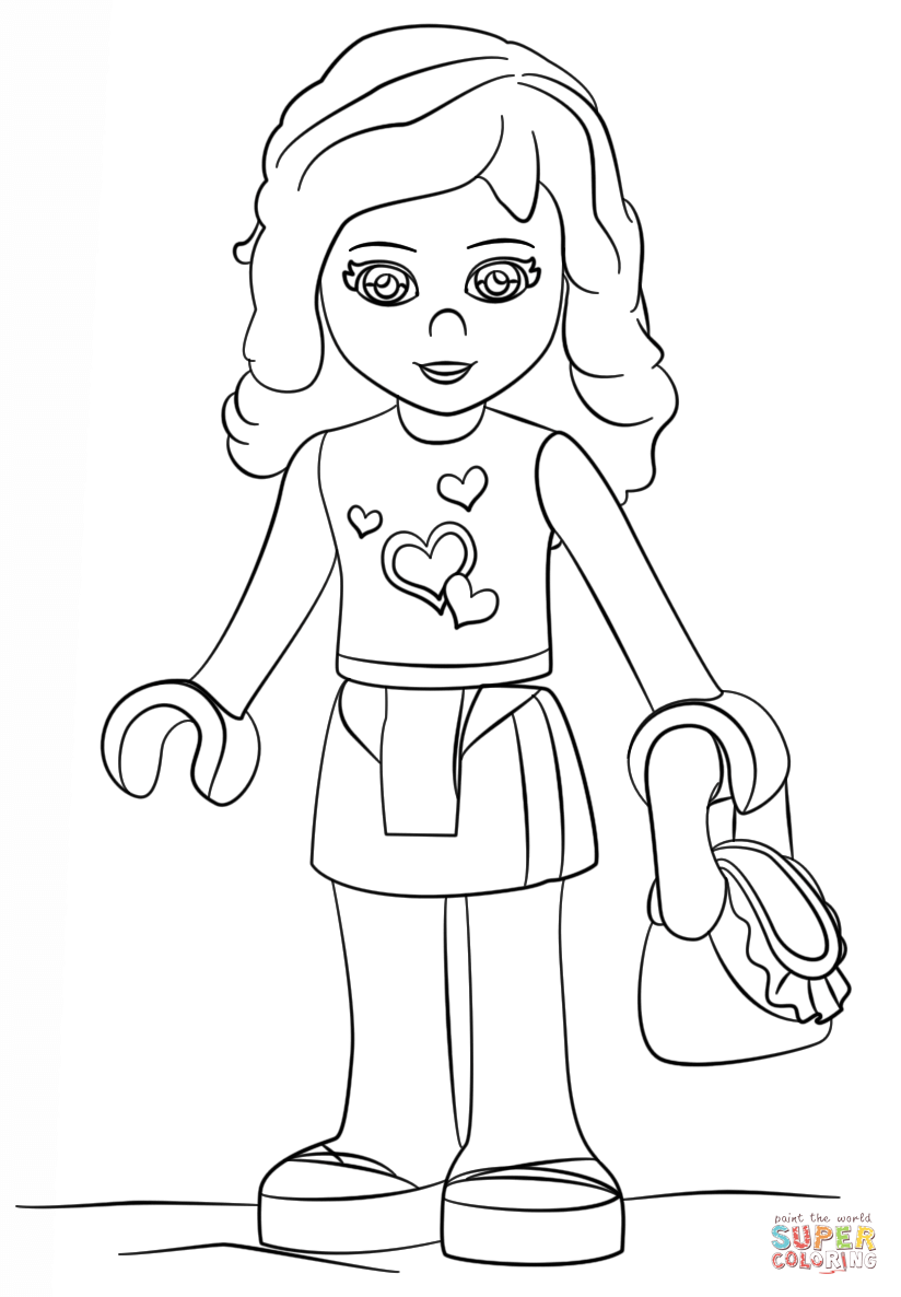 Lego Friends Olivia Coloring Page Free Printable Coloring Pages