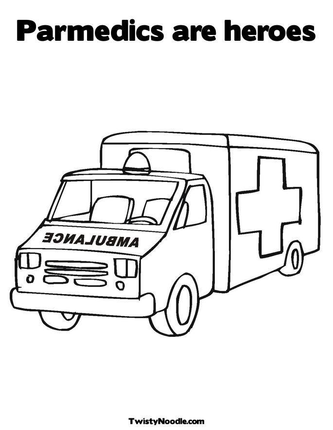Printable First Aid Coloring Book - Paramedics are heroes