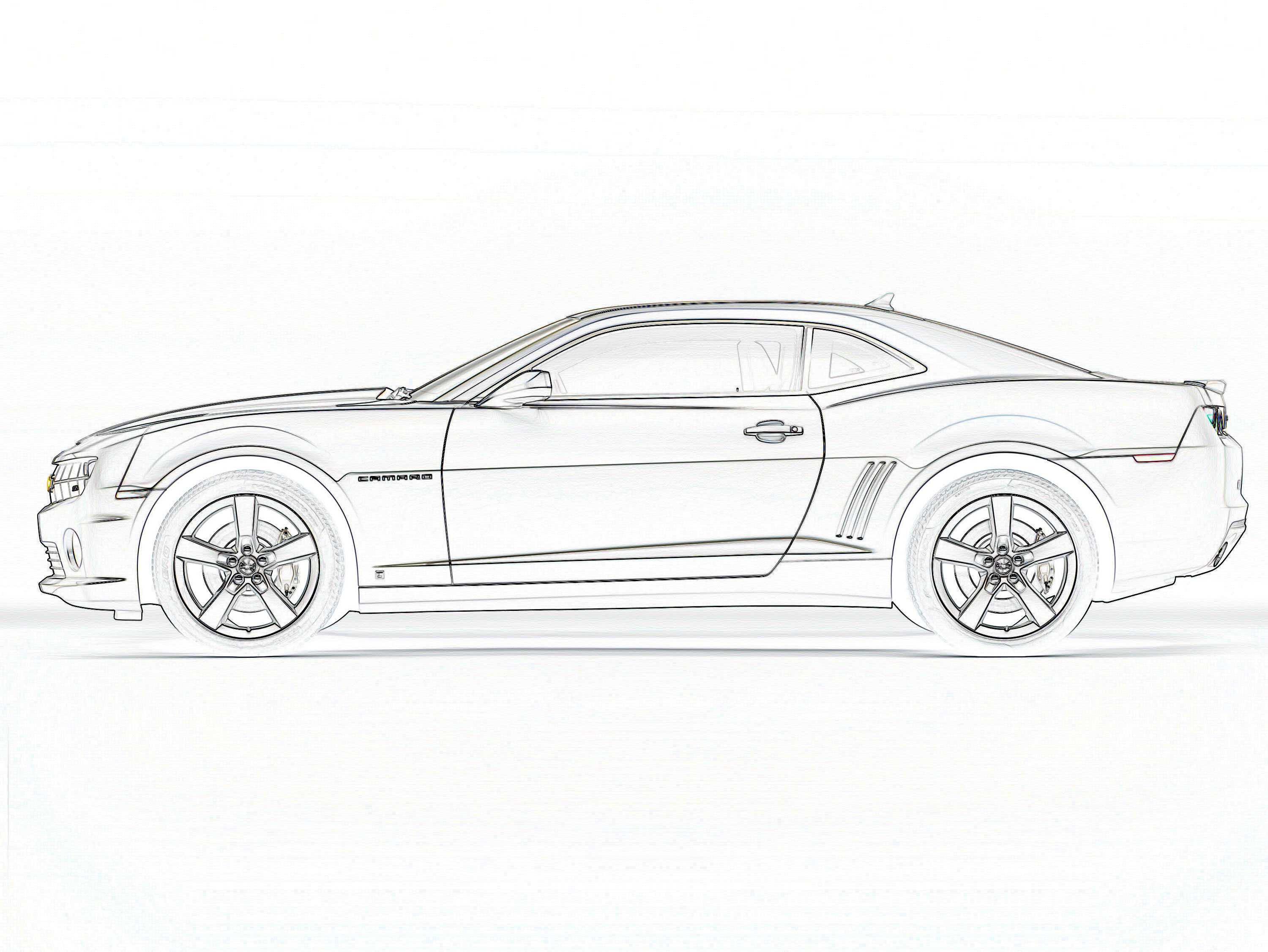 2010 camaro ss pages coloring pages