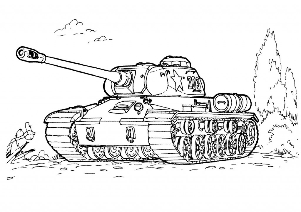 Army Tanks Coloring Pages AZ