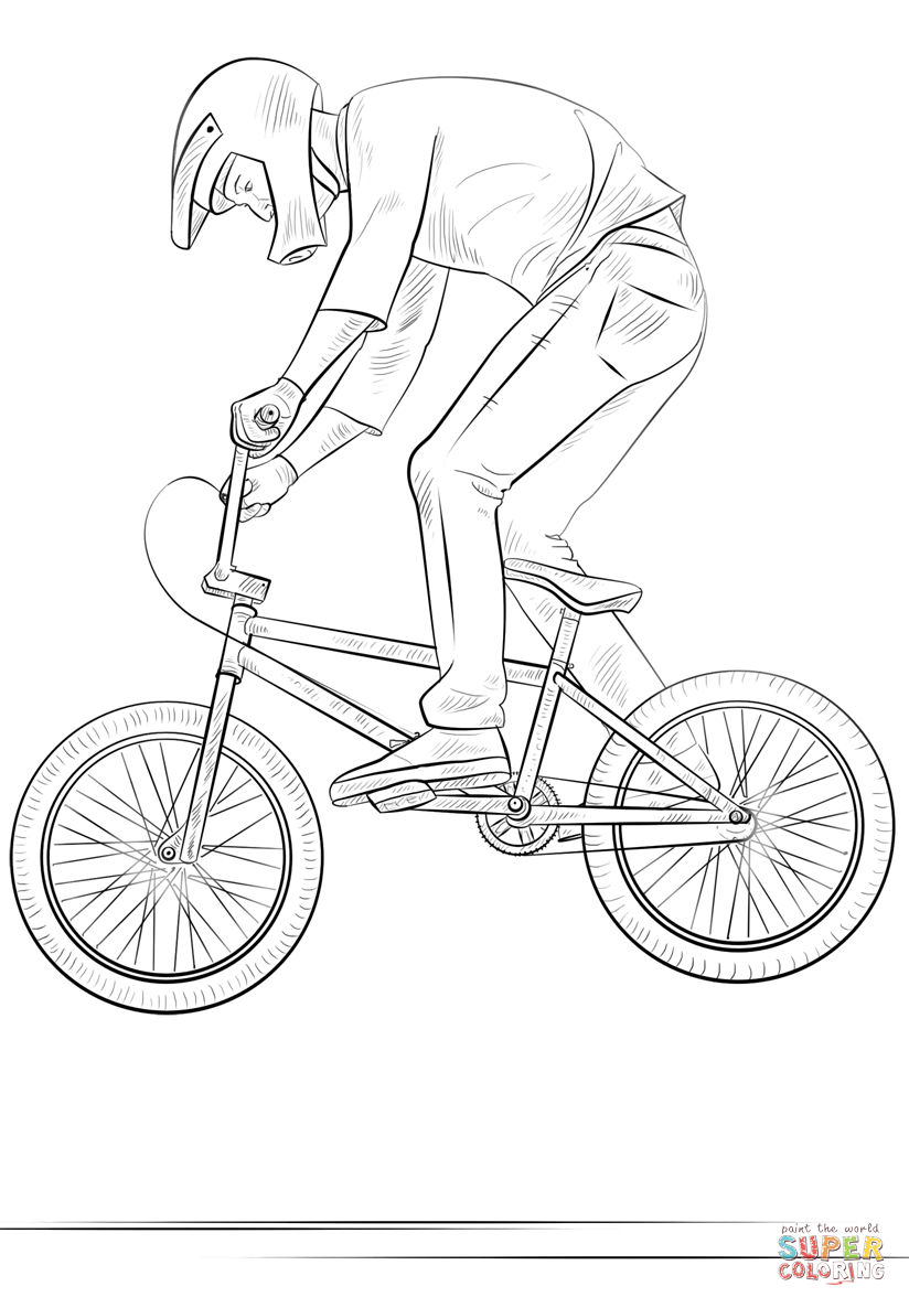 Bmx Coloring Page - Coloring Home