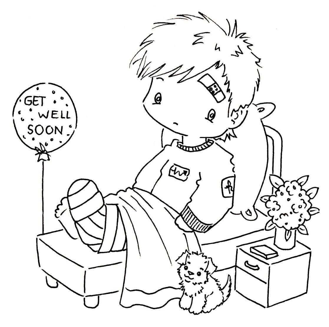 picture regarding Printable Get Well Soon Cards named Printable Consider Nicely Playing cards In direction of Shade - Coloring Webpages For Little ones