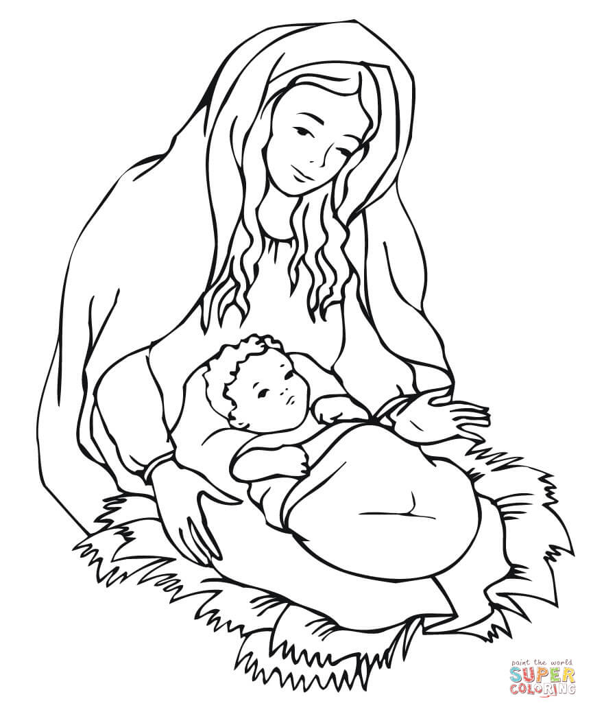 coloring pages of mother mary coloring home