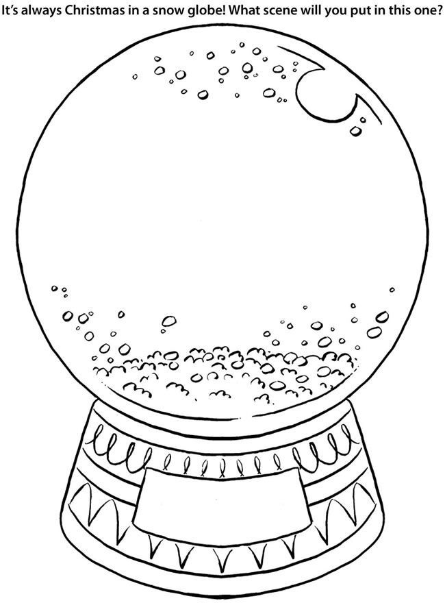 8 Pics of Empty Snow Globe Coloring Page - Snow Globe Template ...