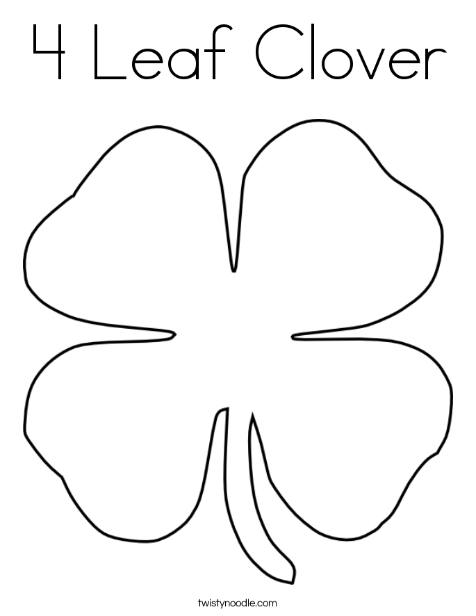Large Leaf Coloring Page Coloring Home Four Leaf Clover Color Page