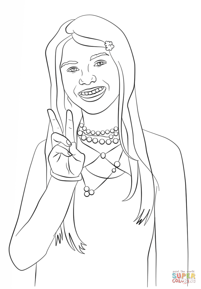 Uncategorized Zoey 101 Coloring Pages lola martinez from zoey 101 coloring page home page