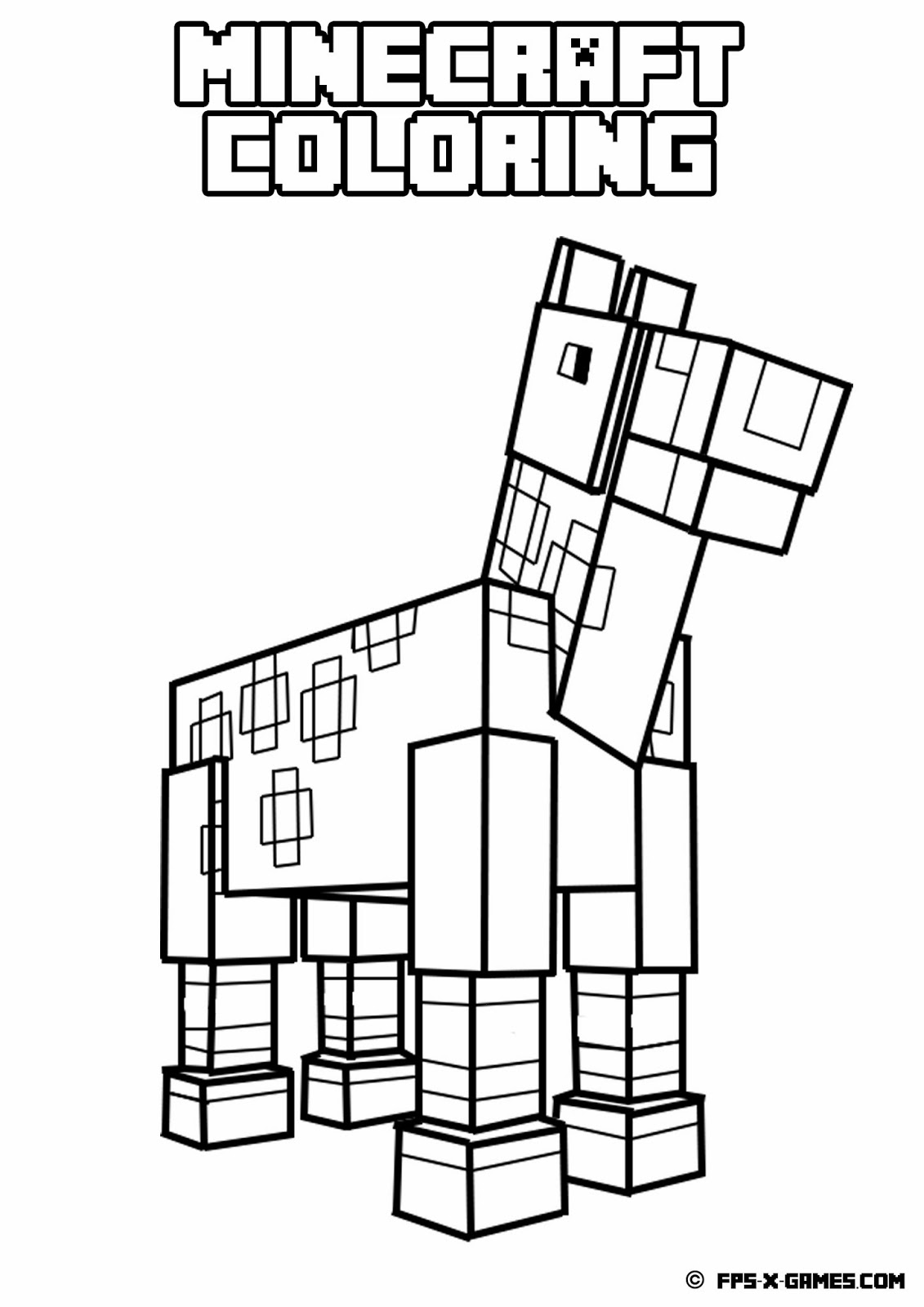 Printable Minecraft Coloring Pages - Coloring Home