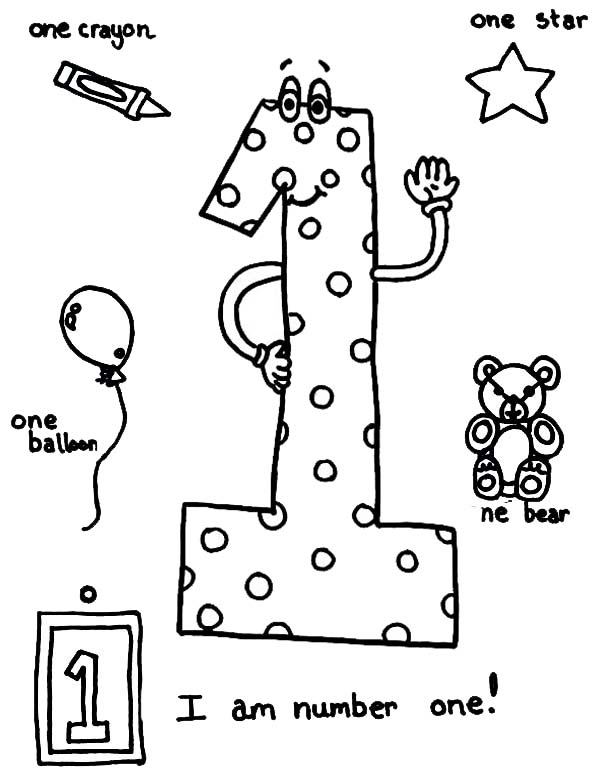Number 1 coloring page az coloring pages for Number one coloring page