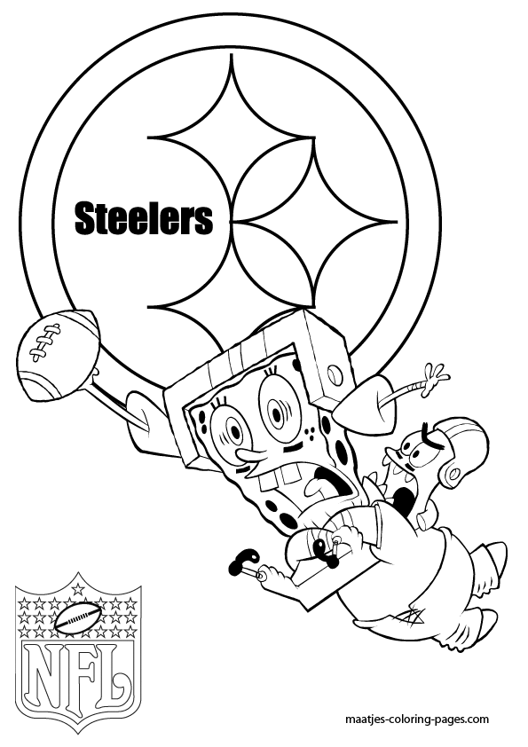 pittsburgh steelers coloring pages - coloring home - Steelers Coloring Pages Printable