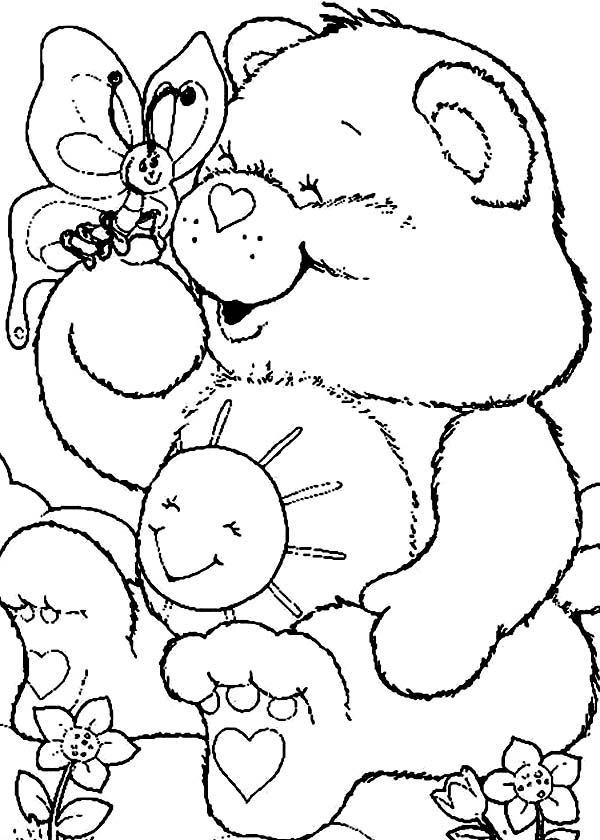 funshine cear coloring pages - photo#35