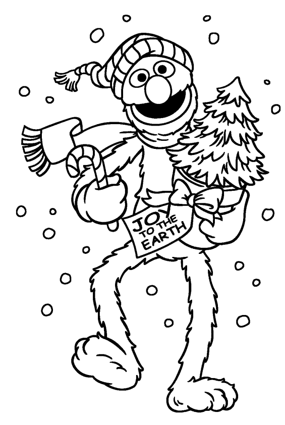 sesame street holiday coloring pages - photo#7