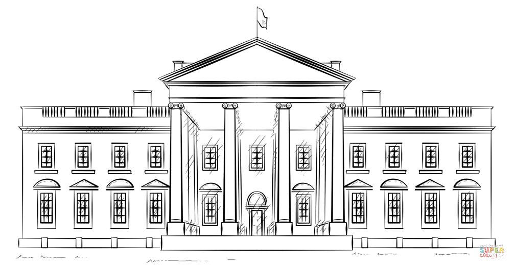 White House Coloring Pages For Kids  Coloring Home