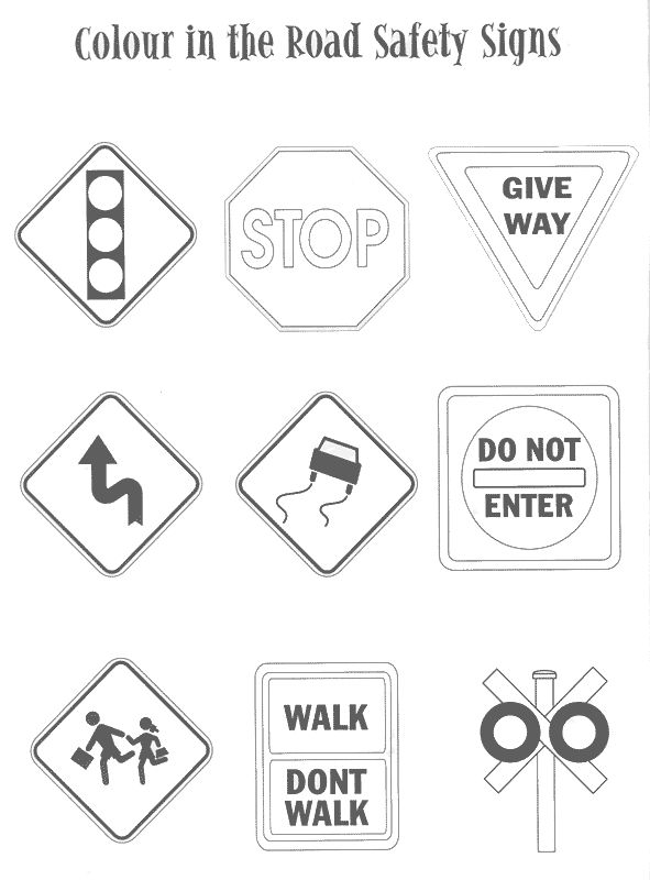 Coloring Pages Traffic Signs - Coloring Home