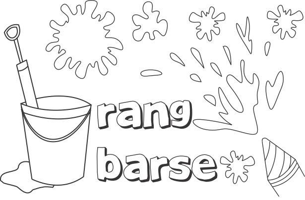 Holi Coloring Pages - Coloring Home Holi Pictures For Colouring