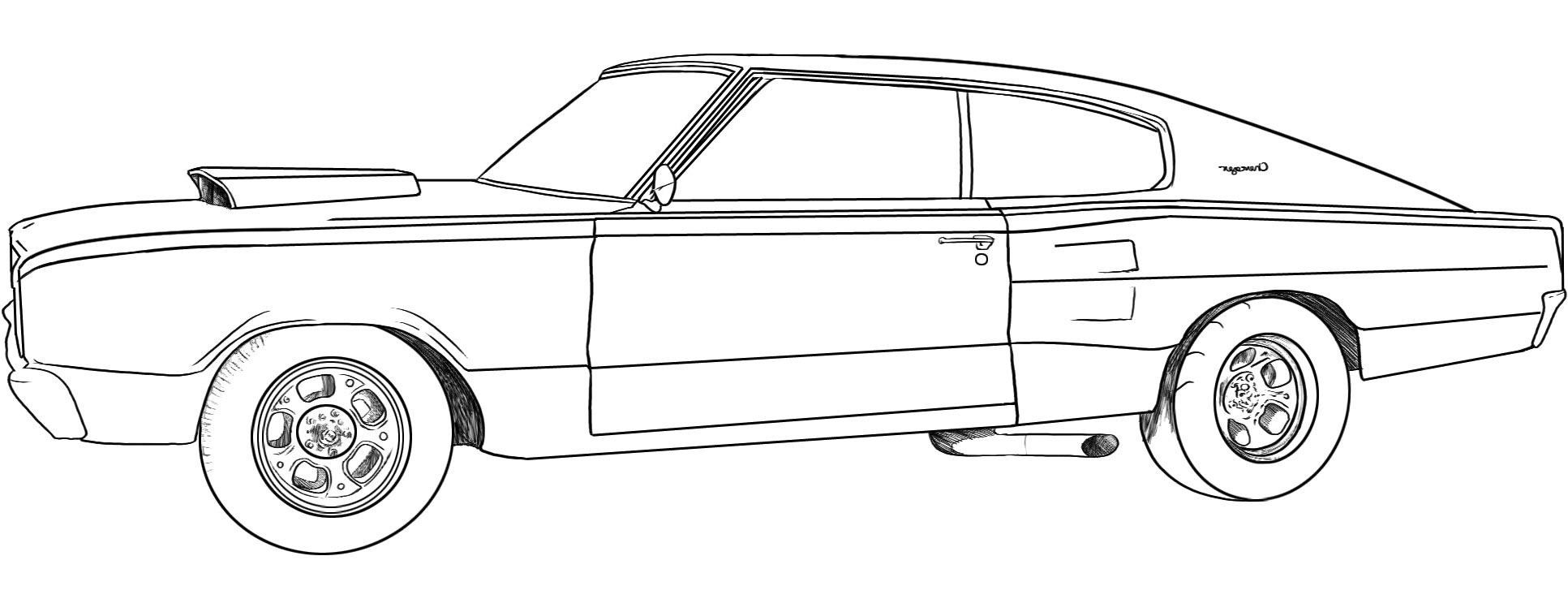 printable dodge charger coloring pages - photo#24