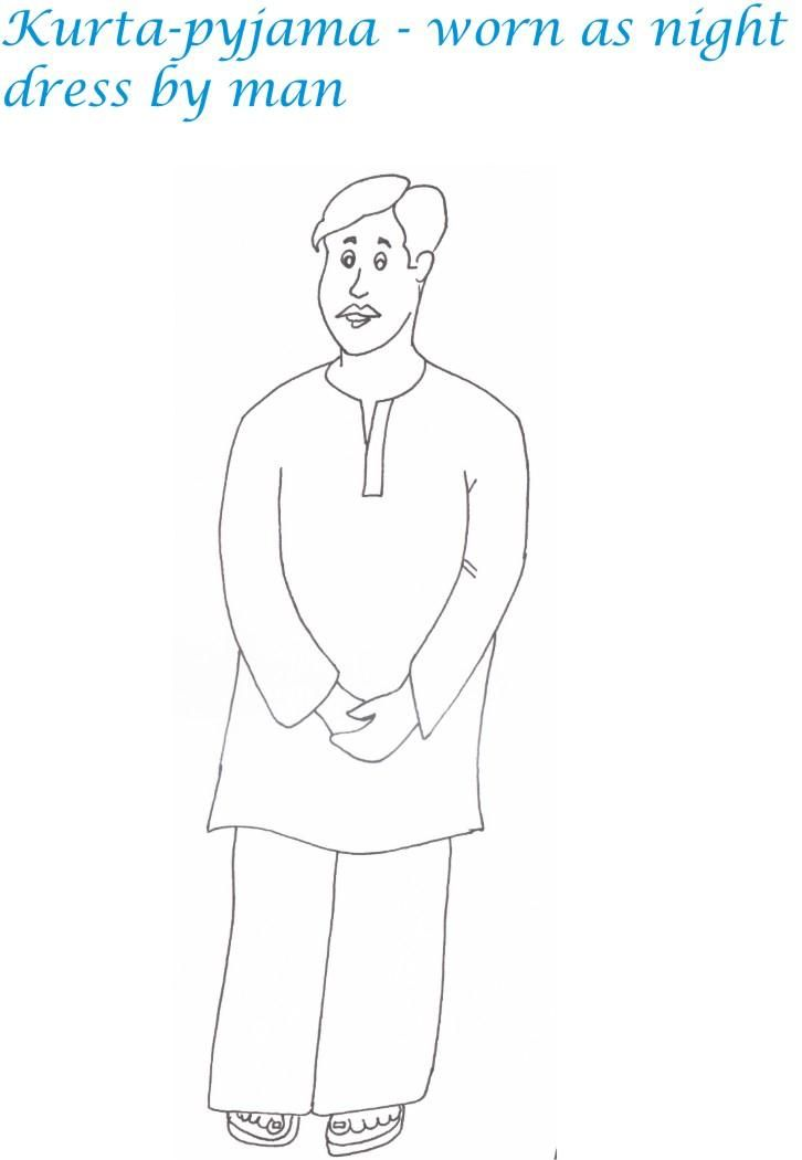 Indian Man Coloring Page Coloring