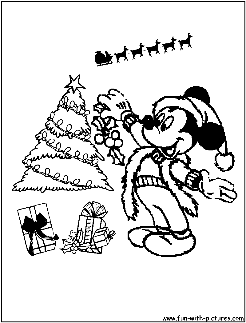 Coloring Pages Christmas Mickey Mouse Coloring Pages mickey mouse christmas coloring page az pages 7 pics of merry santa pages