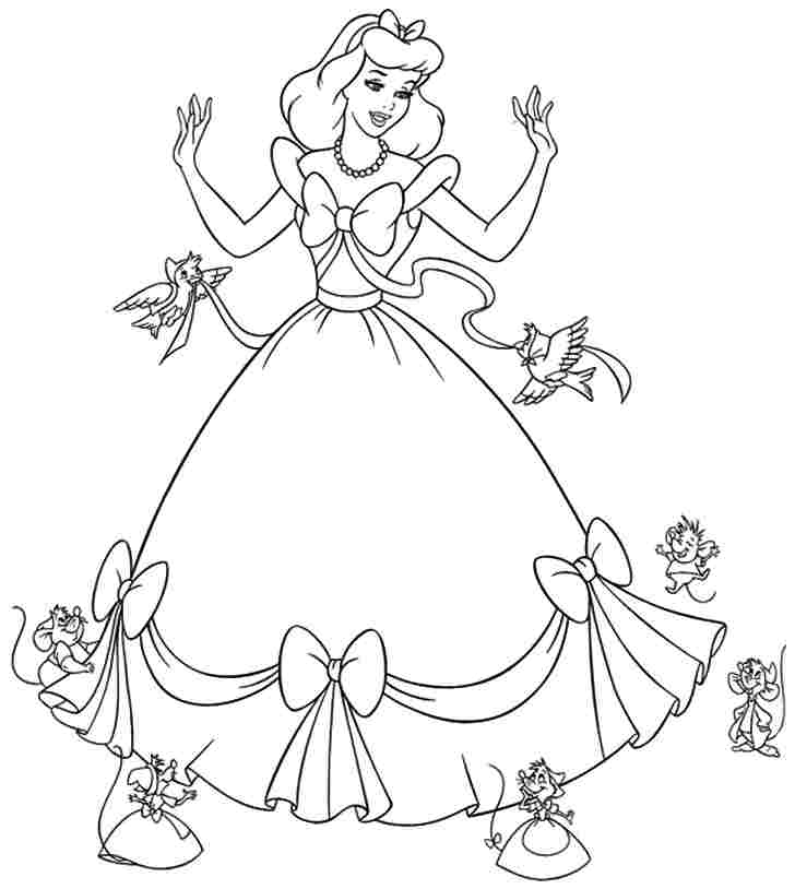 It is an image of Massif Printable Cinderella Coloring Pages