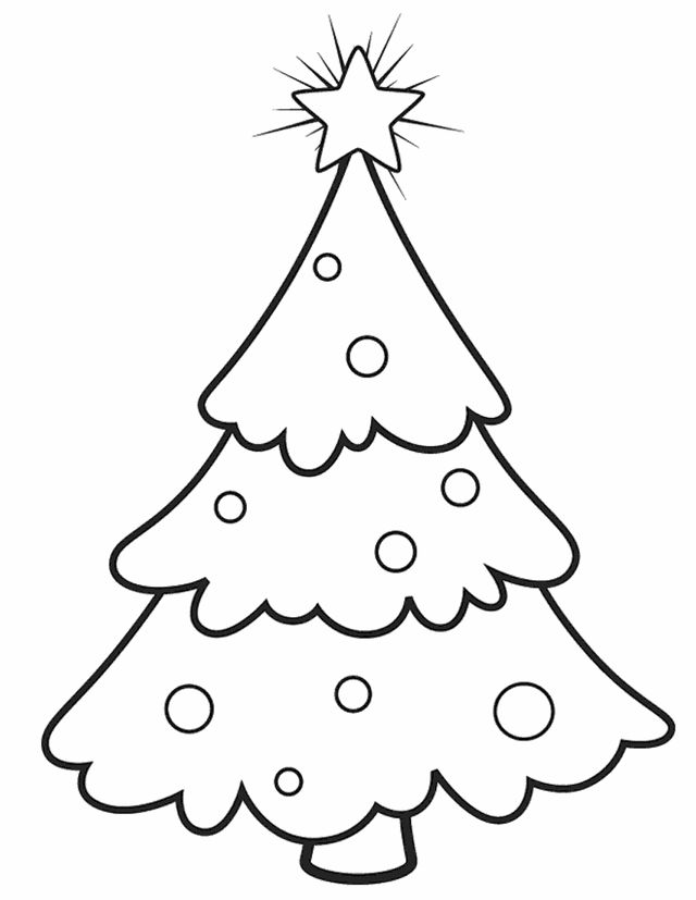 Free Printable Christmas Tree Coloring Pages Wonderful - Coloring ...