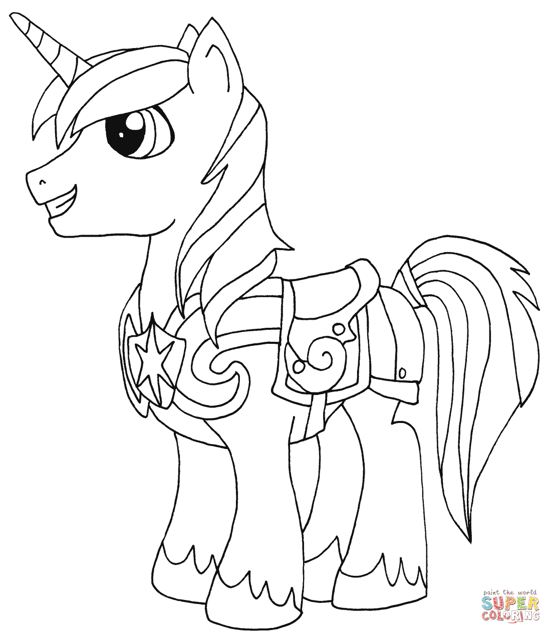 my little pony shining armor coloring pages coloring home