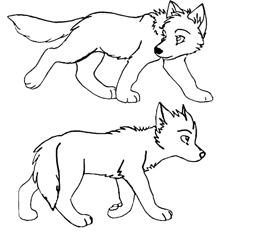 free wolf puppy coloring pages - photo#15