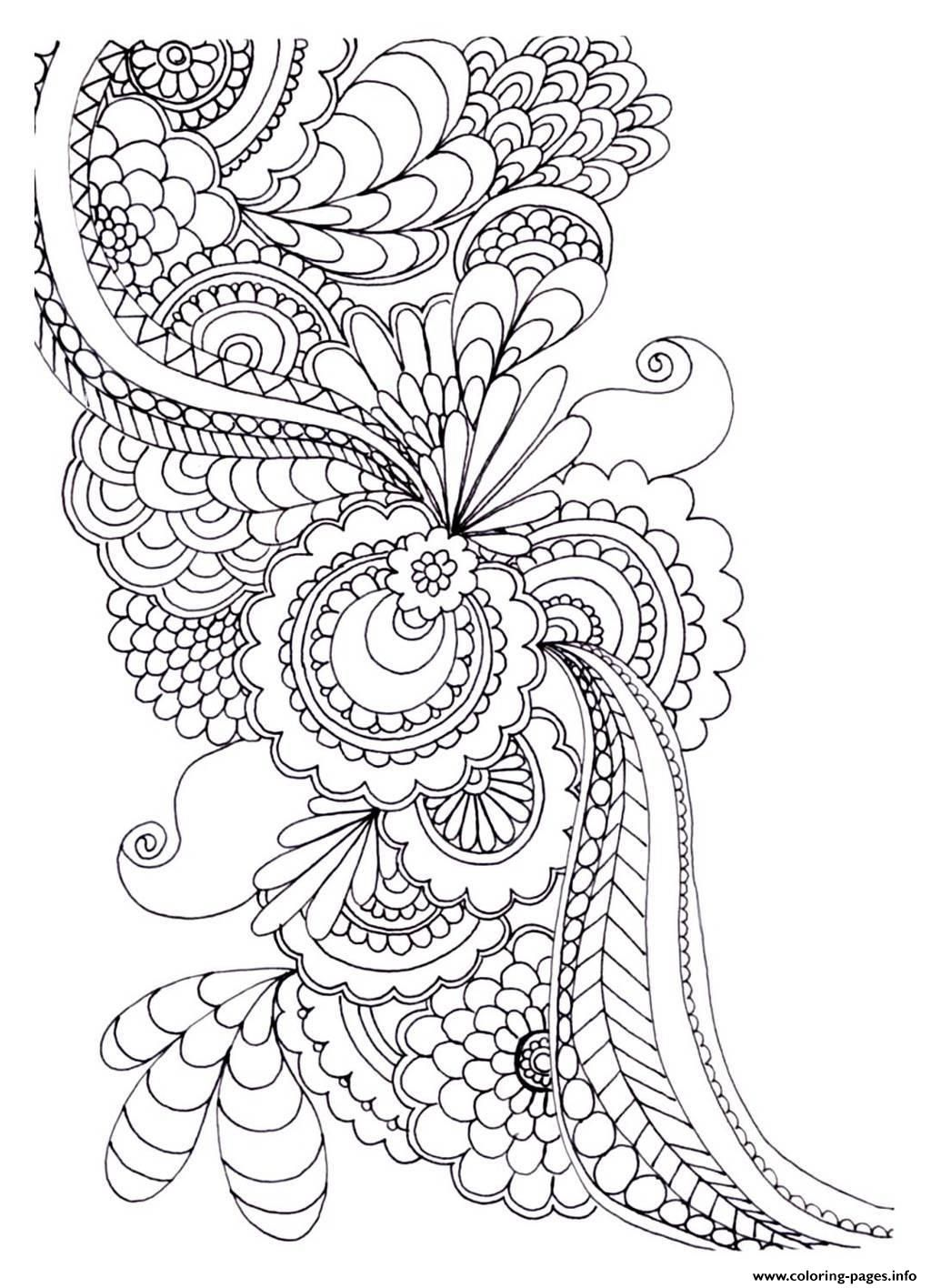 Coloring pictures for adults flowers - Print Adult Zen Anti Stress To Print Drawing Flowers Coloring Pages