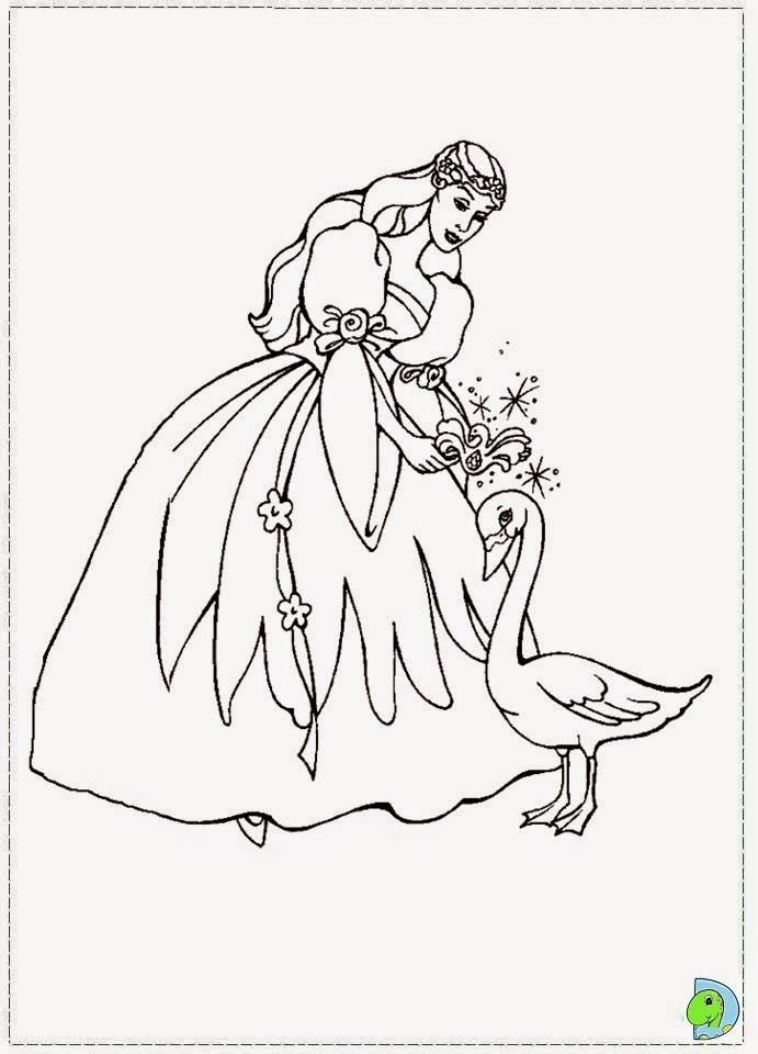 The Swan Princess Coloring Page