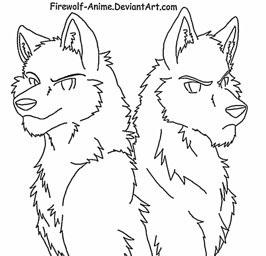 Anime Wolf Pack Coloring Pages - Coloring Home