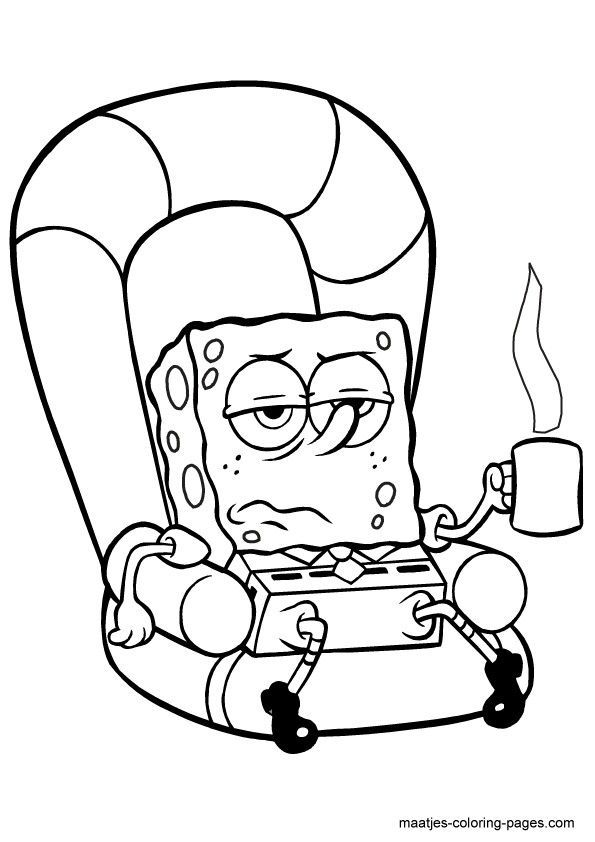 Spongebob squarepants characters coloring pages az for Spongebob squarepants coloring pages