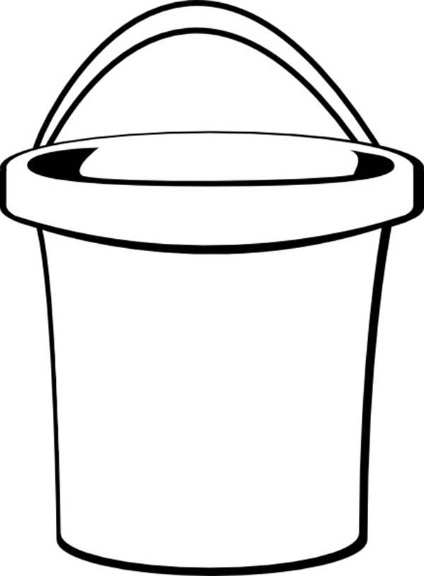 It is an image of Punchy Sand Bucket Coloring Page