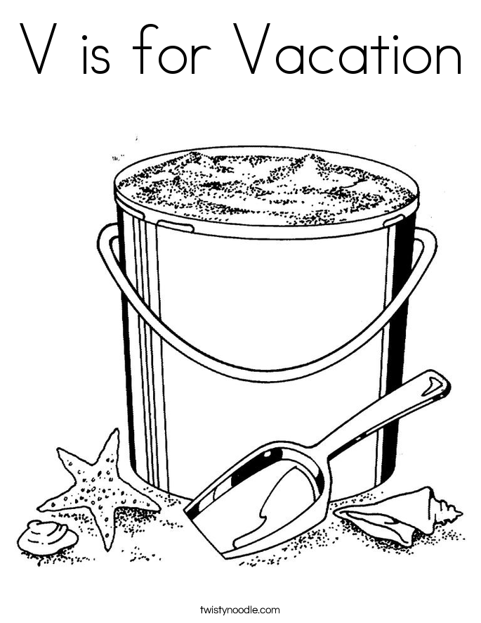 pail and shovel coloring page coloring home