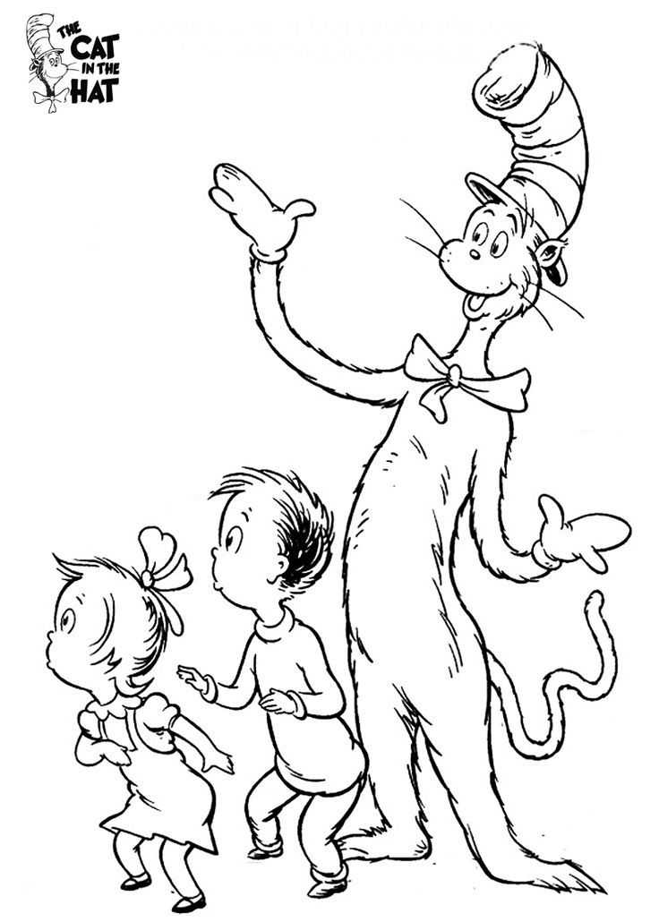 8 Pics Of Cat And The Hat Coloring Pages