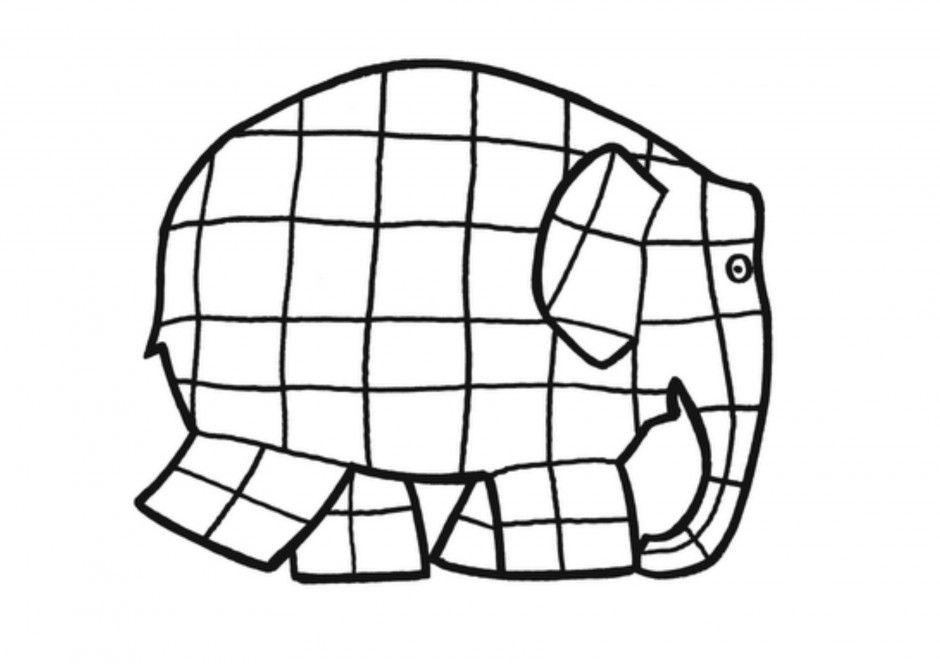 picture regarding Elmer the Elephant Printable named Elmer The Elephant - Coloring Webpages For Little ones And For Grownups