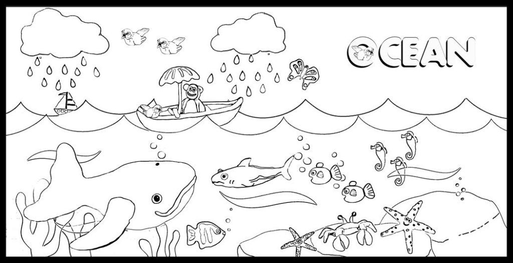 free ocean waves coloring pages - photo#20