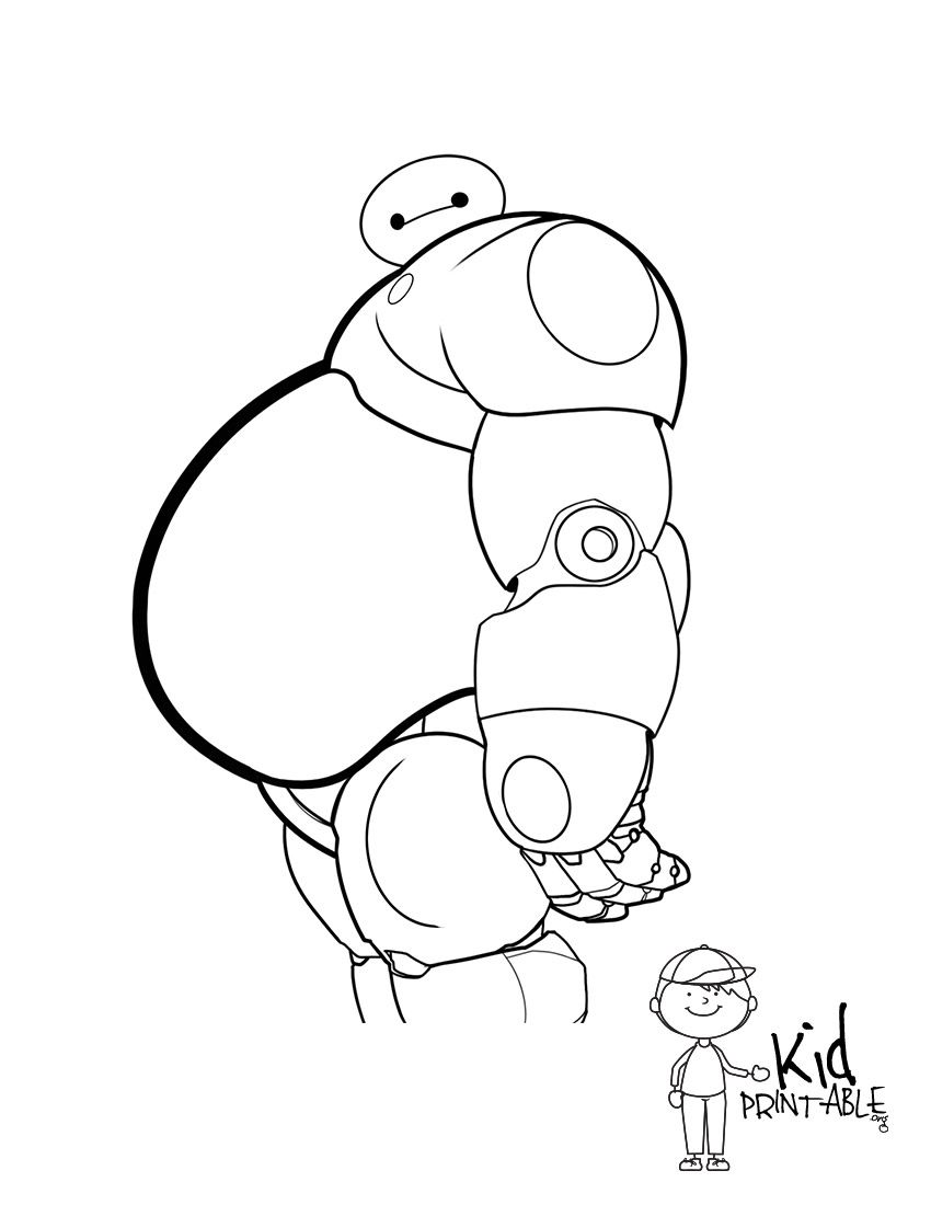 Baymax Coloring Pages - Coloring Home