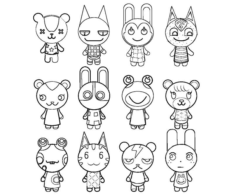 animal crossing coloring pages coloring page