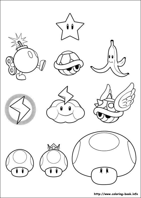 Super Mario Bros. coloring pages on Coloring-Book.info