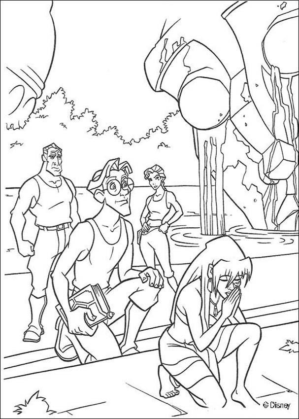Atlantis The Lost Empire Coloring Book Pages
