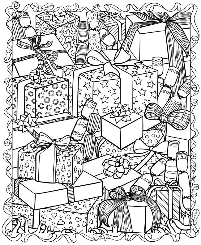 Christmas adult coloring pages coloring home for Adult christmas coloring pages