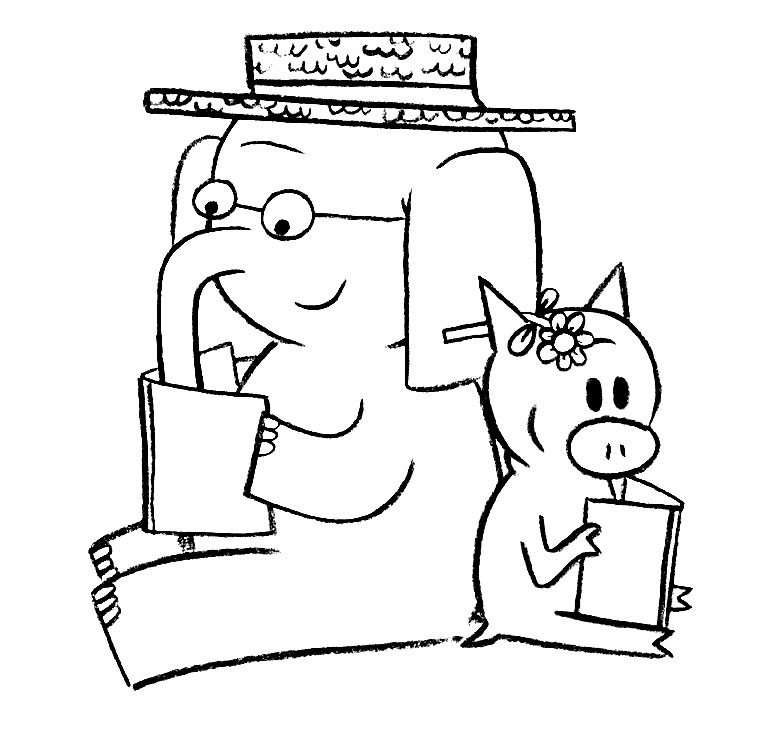 piggy and elephant coloring pages - photo#14