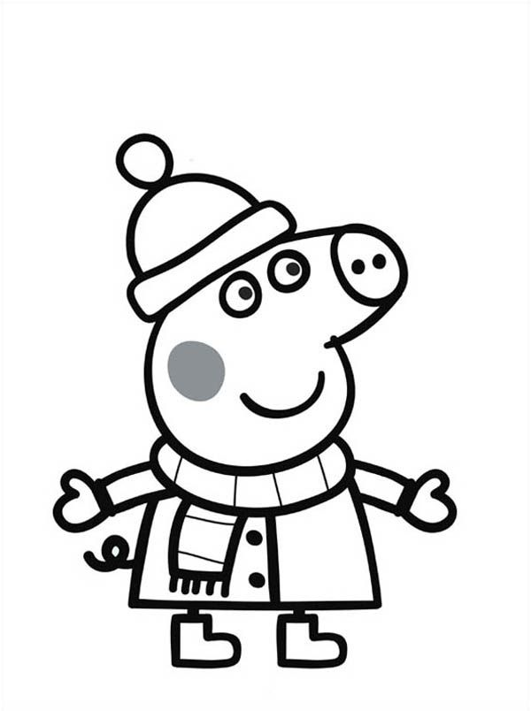 Peppa Pig Coloring Pages Free - Coloring Page - Coloring Home