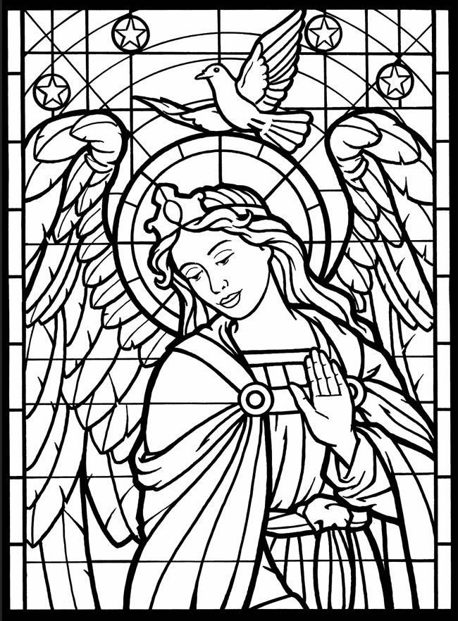 Printable stained glass coloring pages coloring home for Stained glass coloring pages for kids